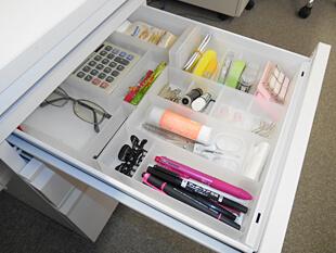 机の上整理はコレ!マスキングテープも入る無印良品ペン小物スタンド